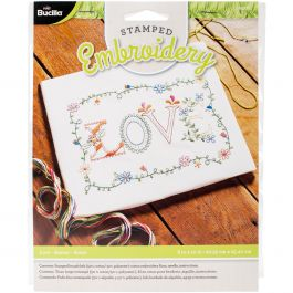 "Bucilla Stamped Embroidery Kit 8""X10"" Love - 46276"