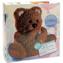 "Stand Up Cake Pan Set Cuddly Bear 9.5""X8.625"" - W603"