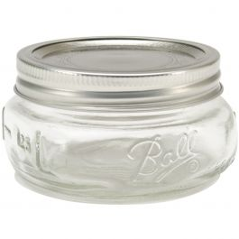 Ball(R) Wide Mouth Canning Jars 4/Pkg 1/2 Pint, 8Oz - 61162