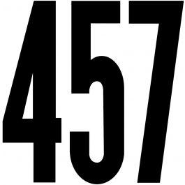 "Permanent Adhesive Vinyl Numbers 4"" 49/Pkg Black - D3217-BLACK"