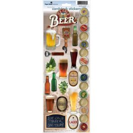 "Paper House Cardstock Stickers 4.625""X13"" Beer - STCX0109"