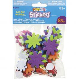Foam Stickers 83/Pkg Flowers & Ladybugs - 1045-30