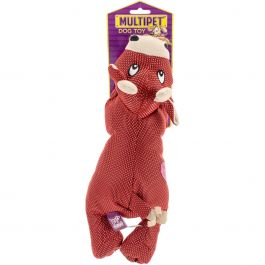 "Multipet Dazzler Squeaky Animal 11"" Cow - 37674"