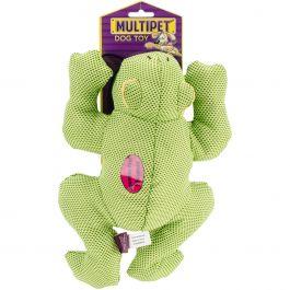 "Multipet Dazzler Squeaky Animal 11"" Frog - 37678"