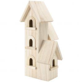 "Natural Wood Manhattan Birdhouse 12""X5.5""X5.5"" - 9166-54"