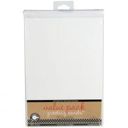 """Value Pack Greeting Cards W/Envelopes 5""""X7"""" 50/Pkg White - CDS5X7-1044"""