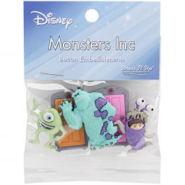 Dress It Up Licensed Embellishments Disney Monsters, Inc. - DIULBTN-7734