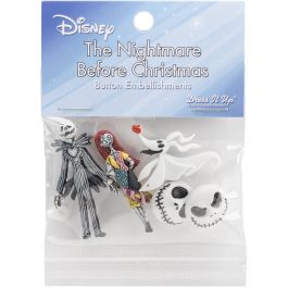 Dress It Up Licensed Embellishments Disney The Nightmare Before Christmas - DIULBTN-7737