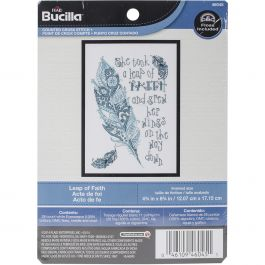 "Bucilla Mini Counted Cross Stitch Kit 4.75""X6.75"" Leap Of Faith (28 Count) - 46045"