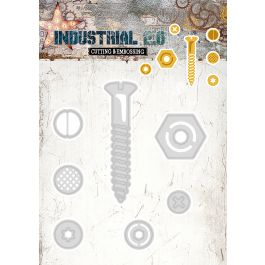 """Studio Light Industrial 2.0 4.5""""X8"""" Cutting & Embossing Die Nuts & Bolt - STENCL71"""