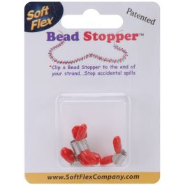 Mini Bead Stoppers 4/Pkg Plastic Topped Metal - BS06465