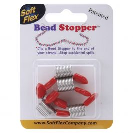 Bead Stoppers 4/Pkg Plastic Topped Metal - BS04584