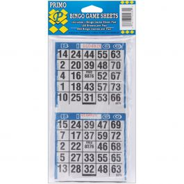 "Primo Bingo Game Sheets 4""X8"" 125/Pkg 250 Games - 80"