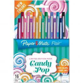 Paper Mate Candy Pop Flair Ultra Fine Felt Tip Pens 16/Pkg Assorted - 1979496