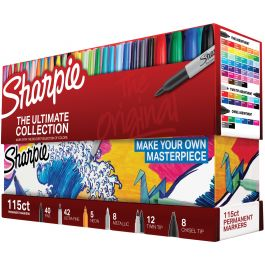 Sharpie Ultimate Pack Markers 115/Pkg Ultimate, Assorted Colors & Tips - 1983255