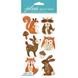 Jolee'S Le Grande Dimensional Stickers Woodland Felt Animals - E5051034