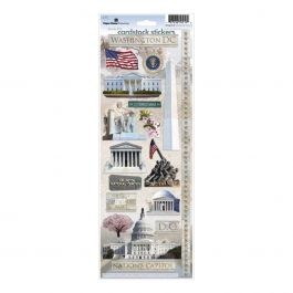 "Paper House Cardstock Stickers 4.625""X13"" Washington Dc 2 - STCX0119"