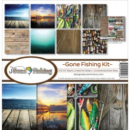 "Reminisce Collection Kit 12""X12"" Gone Fishing - GOF200"