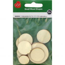 Assorted Wood Shapes Circles 12/Pkg - NI201-22676