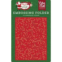 Echo Park Embossing Folder A2 Holiday Flourish - MB160031