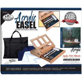 Easel Art Set W/Easy To Store Bag Acrylic Fob: Mi - REA4901