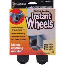 "Self Adhesive Instant Wheels 1""X1.5"" 4/Pkg - MM17234"