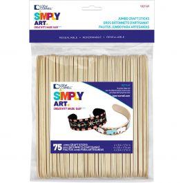 "Simply Art Wood Jumbo Craft Sticks Natural 6"" 75/Pkg - 1021169"