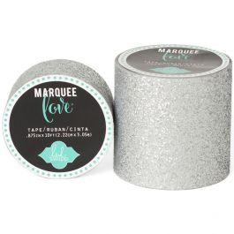 "Heidi Swapp Marquee Love Washi Tape 2"" Silver Glitter, 8' - HSMARW2-69458"