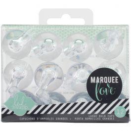 """Heidi Swapp Marquee Love Bulb Caps 1"""" 12/Pkg Clear - HS312003"""