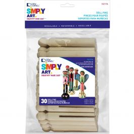 "Simply Art Wood Doll Pins Natural 3.75"" 30/Pkg - 1021176"
