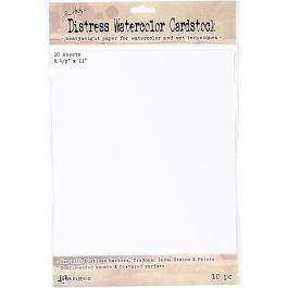 """Tim Holtz Distress Watercolor Cardstock 10/Pkg 8.5""""X11"""" - TDA53927"""