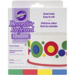 Decorator Preferred Fondant 4.4Oz 4/Pkg Primary - W102311