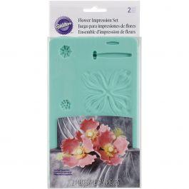 """Flower Impression Molds 6.5""""X4.5"""" 2/Pkg  - W92530"""