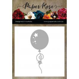 Paper Rose Dies Balloon W/Streamers - PR16697
