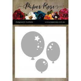 Paper Rose Dies Balloon Trio Decorative - PR16706