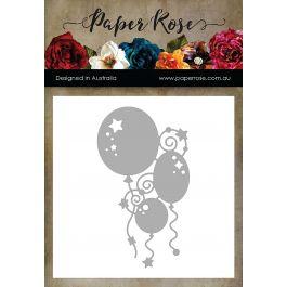 Paper Rose Dies Bunch Of Balloons - PR16694