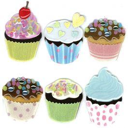 Jolee'S Boutique Dimensional Stickers Vellum Cupcakes - E5020189