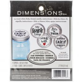 Dimensions Counted Cross Stitch Kit 4/Pkg Favorite Label Jar Topper - 72-74116