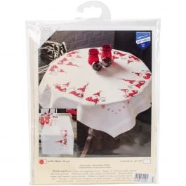 "Vervaco Table Runner Stamped Embroidery Kit 16""X40"" Gnomes Christmas - V0146077"