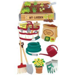 Jolee'S Le Grande Dimensional Stickers Gardening - E5050119