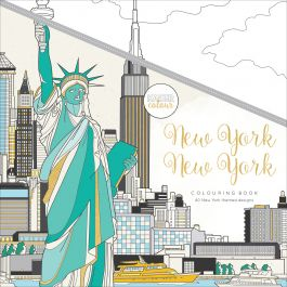 "Kaisercolour Perfect Bound Coloring Book 9.75""X9.75"" New York - CL552"