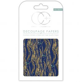 "Craft Consortium Decoupage Papers 13.75""X15.75"" 3/Pkg Blue Decal - XDECP020"