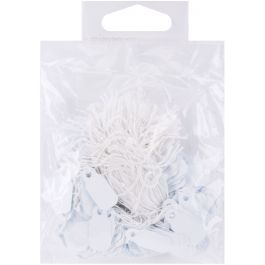 """Small Jewelry Hang Tags .25""""X.75"""" 200/Pkg White - 2002-82"""