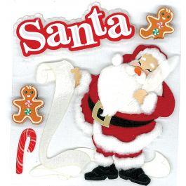 Jolee'S Boutique Dimensional Stickers Classic Santa - E5020081