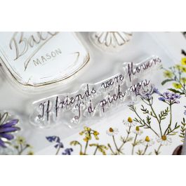 Craft Consortium A5 Clear Stamps Wildflower Meadow  Fresh Cut - CSTMP006