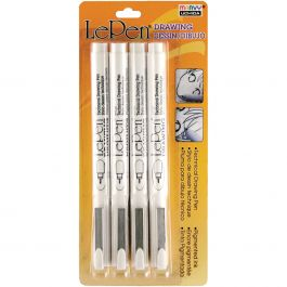 Le Pen Technical Drawing Set 4/Pkg .05Mm, .1Mm, .5Mm, .8Mm Black - 4100-4A