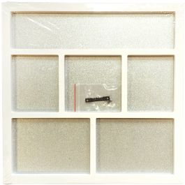 "Foundations Decor Magnetic Shadow Box 12""X12"" White - 26011"