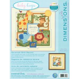 "Dimensions/Baby Hugs Counted Cross Stitch Kit 12""X12"" Savannah Birth Record (14 Count) - 70-73543"