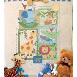 "Dimensions/Baby Hugs Quilt Stamped Cross Stitch Kit 34""X43"" Savannah - 70-73544"