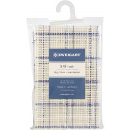"Zweigart Rug Canvas 24""X30"" 3.75 Mesh 24""X30"" Blue Checked - 1136146C"
